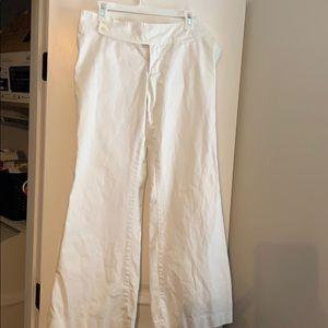 Abercrombie Flare Leg Pants White size 10